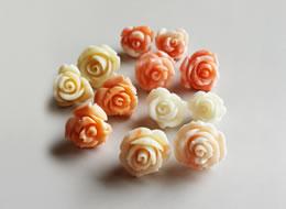 Coral Rose Pierced Earrings