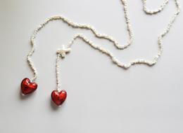 Akoya Keshi Pearl Heart lariat