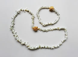 Akoya Keshi Pearl Necklace & Bracelet