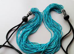 Turquoise 20strings Code Necklace