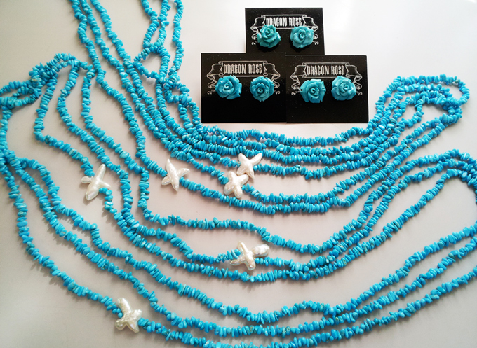Turquoise 90cm Endless with Cross